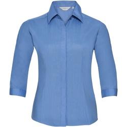 Textiel Dames Overhemden Russell 926F Bedrijfsblauw
