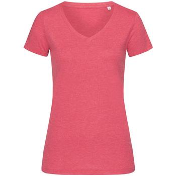 Textiel Dames T-shirts korte mouwen Stedman Stars Melange Kersen Heide