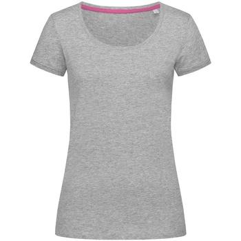 Textiel Dames T-shirts korte mouwen Stedman Stars Megan Heide Grijs