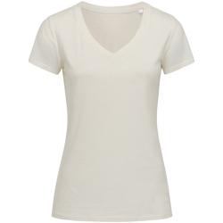 Textiel Dames T-shirts korte mouwen Stedman Stars Janet Winter Wit