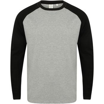 Textiel Heren T-shirts met lange mouwen Skinni Fit SF271 Heide Grijs / Zwart