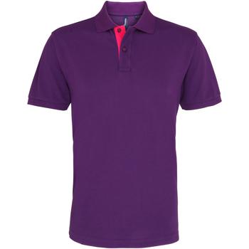 Textiel Heren Polo's korte mouwen Asquith & Fox Contrast Paars/Roze