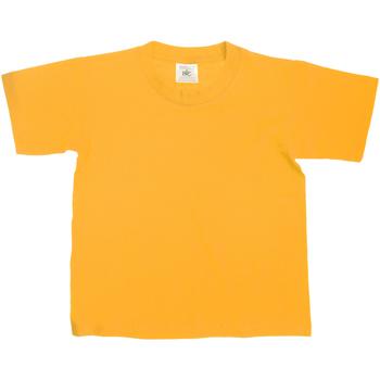 Textiel Kinderen T-shirts korte mouwen B And C Exact 150 Goud
