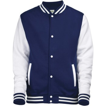 Textiel Kinderen Wind jackets Awdis Varsity Marine Oxford/Wit
