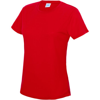 Textiel Dames T-shirts korte mouwen Just Cool JC005 Vuurrood
