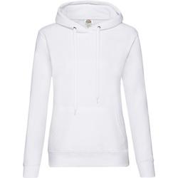 Textiel Dames Sweaters / Sweatshirts Fruit Of The Loom Hooded Wit