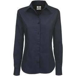 Textiel Dames Overhemden B And C Sharp Marine Blauw