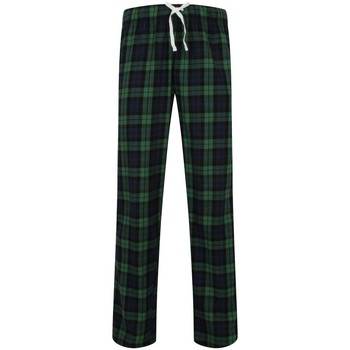 Textiel Heren Pyjama's / nachthemden Skinni Fit Tartan Navy/Groene controle