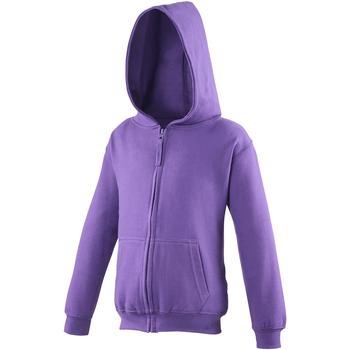 Textiel Kinderen Sweaters / Sweatshirts Awdis Hooded Paars