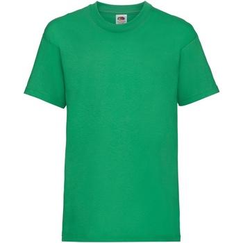 Textiel Kinderen T-shirts korte mouwen Fruit Of The Loom 61033 Kelly Groen