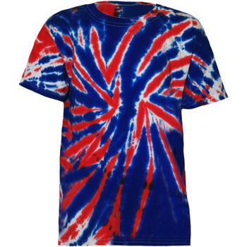 Textiel Kinderen T-shirts korte mouwen Colortone Rainbow Union Jack