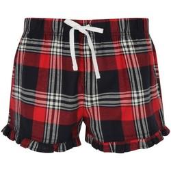 Textiel Dames Korte broeken / Bermuda's Skinni Fit Tartan Rood/navy check