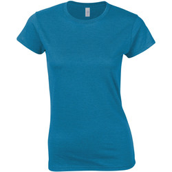 Textiel Dames T-shirts korte mouwen Gildan Soft Antieke Saffier