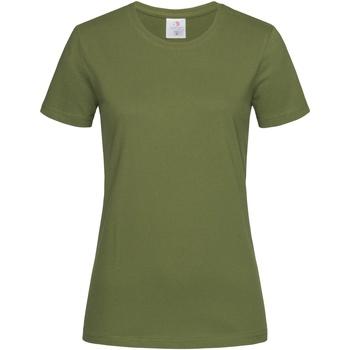 Textiel Dames T-shirts korte mouwen Stedman  Donkergroen