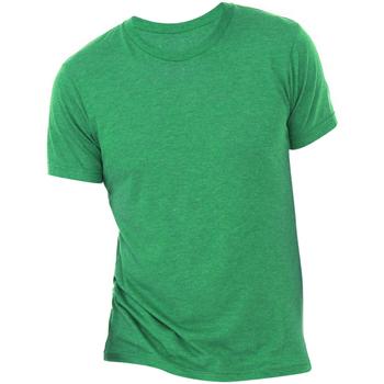 Textiel Heren T-shirts korte mouwen Bella + Canvas Triblend Groene Triblend