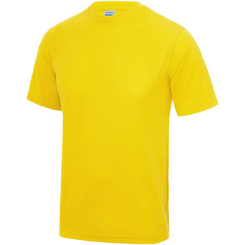 Textiel Heren T-shirts korte mouwen Just Cool Performance Zonnegeel