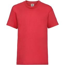Textiel Kinderen T-shirts korte mouwen Fruit Of The Loom 61033 Rood