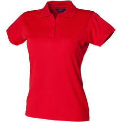 Textiel Dames Polo's korte mouwen Henbury Coolplus Klassiek rood