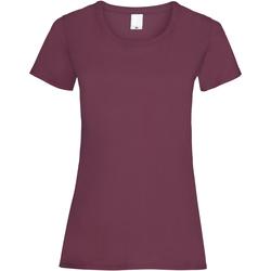 Textiel Dames T-shirts korte mouwen Universal Textiles Casual Ossenbloed