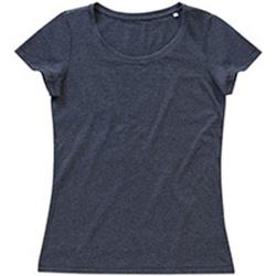 Textiel Dames T-shirts korte mouwen Stedman Stars Lisa Houtskool Heide Grijs