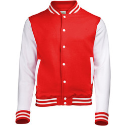 Textiel Wind jackets Awdis JH043 Brand rood / wit