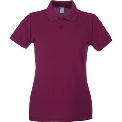 Textiel Dames Polo's korte mouwen Universal Textiles 63030 Ossenbloed