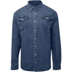 Textiel Heren Overhemden lange mouwen Duke  Stonewash