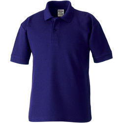 Textiel Kinderen Polo's korte mouwen Jerzees Schoolgear 65/35 Paars