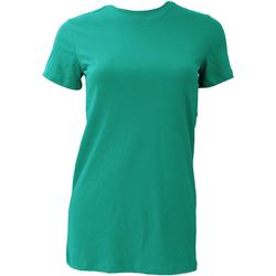 Textiel Dames T-shirts korte mouwen Bella + Canvas BE6004 Teal