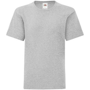 Textiel Jongens T-shirts korte mouwen Fruit Of The Loom Iconic Heather Grijs