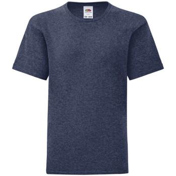 Textiel Kinderen T-shirts korte mouwen Fruit Of The Loom Iconic Heather Marine