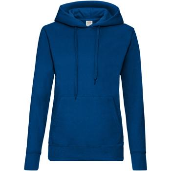 Textiel Dames Sweaters / Sweatshirts Fruit Of The Loom Hooded Marine