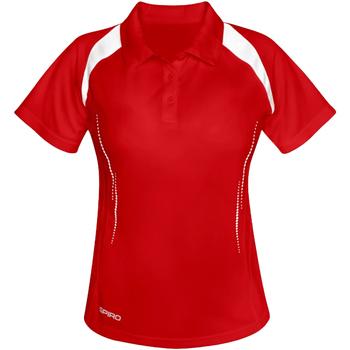 Textiel Dames Polo's korte mouwen Spiro Performance Rood/Wit