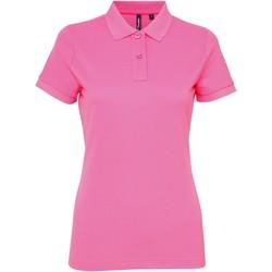 Textiel Dames Polo's korte mouwen Asquith & Fox AQ025 Neonroze