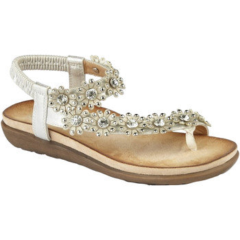 Schoenen Dames Sandalen / Open schoenen Cipriata Flower Licht Zilver