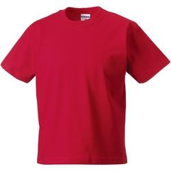 Textiel Kinderen T-shirts korte mouwen Jerzees Schoolgear Classics Klassiek rood