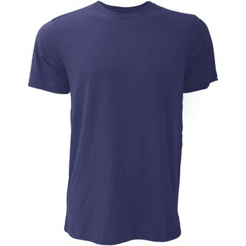 Textiel Heren T-shirts korte mouwen Bella + Canvas Jersey Marine Blauw