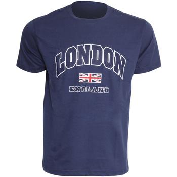 Textiel Heren T-shirts korte mouwen England Casual Marine