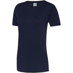 Textiel Dames T-shirts korte mouwen Just Cool JC005 Marine Oxford