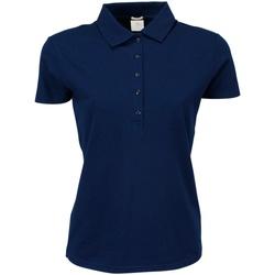Textiel Dames Polo's korte mouwen Tee Jays Stretch Marineblauw