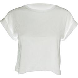 Textiel Dames T-shirts korte mouwen Mantis Crop Wit