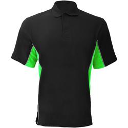 Textiel Heren Polo's korte mouwen Gamegear Pique Zwart/Lime/Wit
