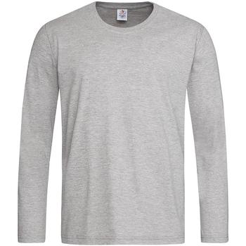 Textiel Heren T-shirts met lange mouwen Stedman Classics Grijs