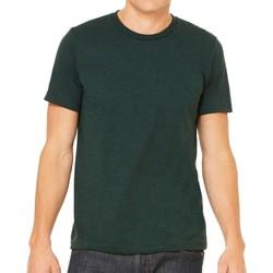 Textiel Heren T-shirts korte mouwen Bella + Canvas Triblend Smaragdgroene Triblend
