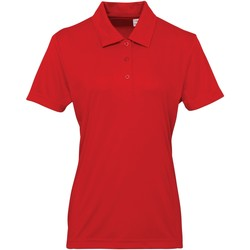 Textiel Dames Polo's korte mouwen Tridri TR022 Vuurrood