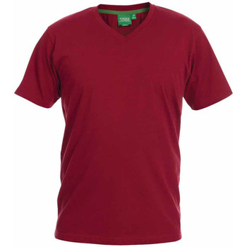 Textiel Heren T-shirts korte mouwen Duke Signature-2 Rood