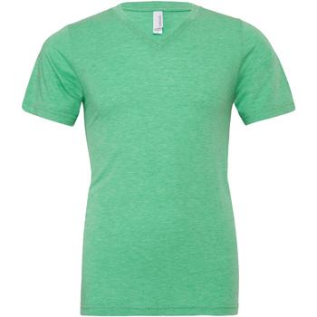 Textiel Heren T-shirts korte mouwen Bella + Canvas Canvas Groene Triblend