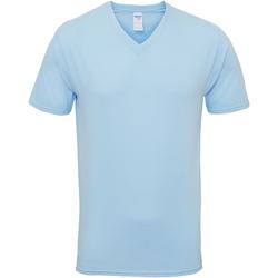 Textiel Heren T-shirts korte mouwen Gildan Premium Lichtblauw