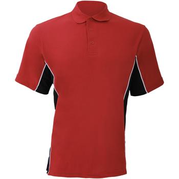 Textiel Heren Polo's korte mouwen Gamegear Pique Rood/zwart/wit