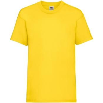 Textiel Kinderen T-shirts korte mouwen Fruit Of The Loom 61033 Yellow